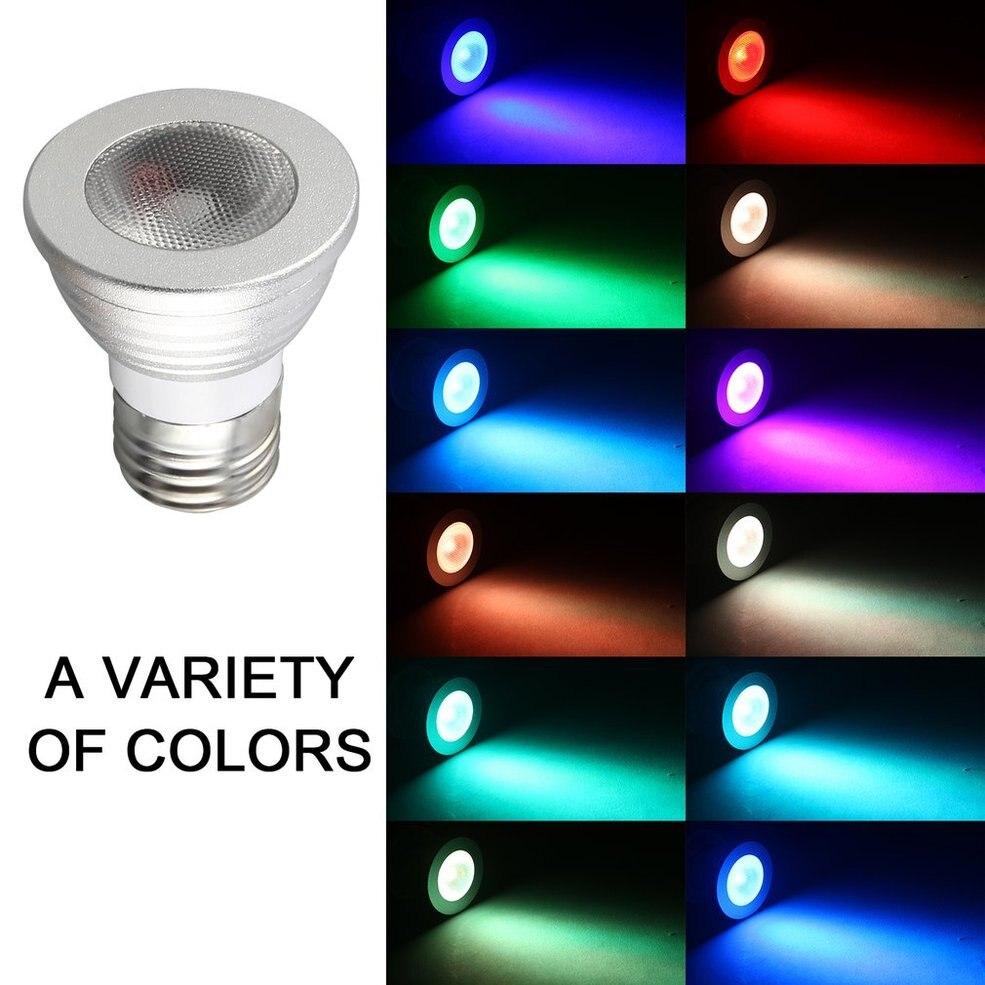 2 pièces 5 W E27 Multi couleur changement RGB lumière LED ampoule lampe avec télécommande
