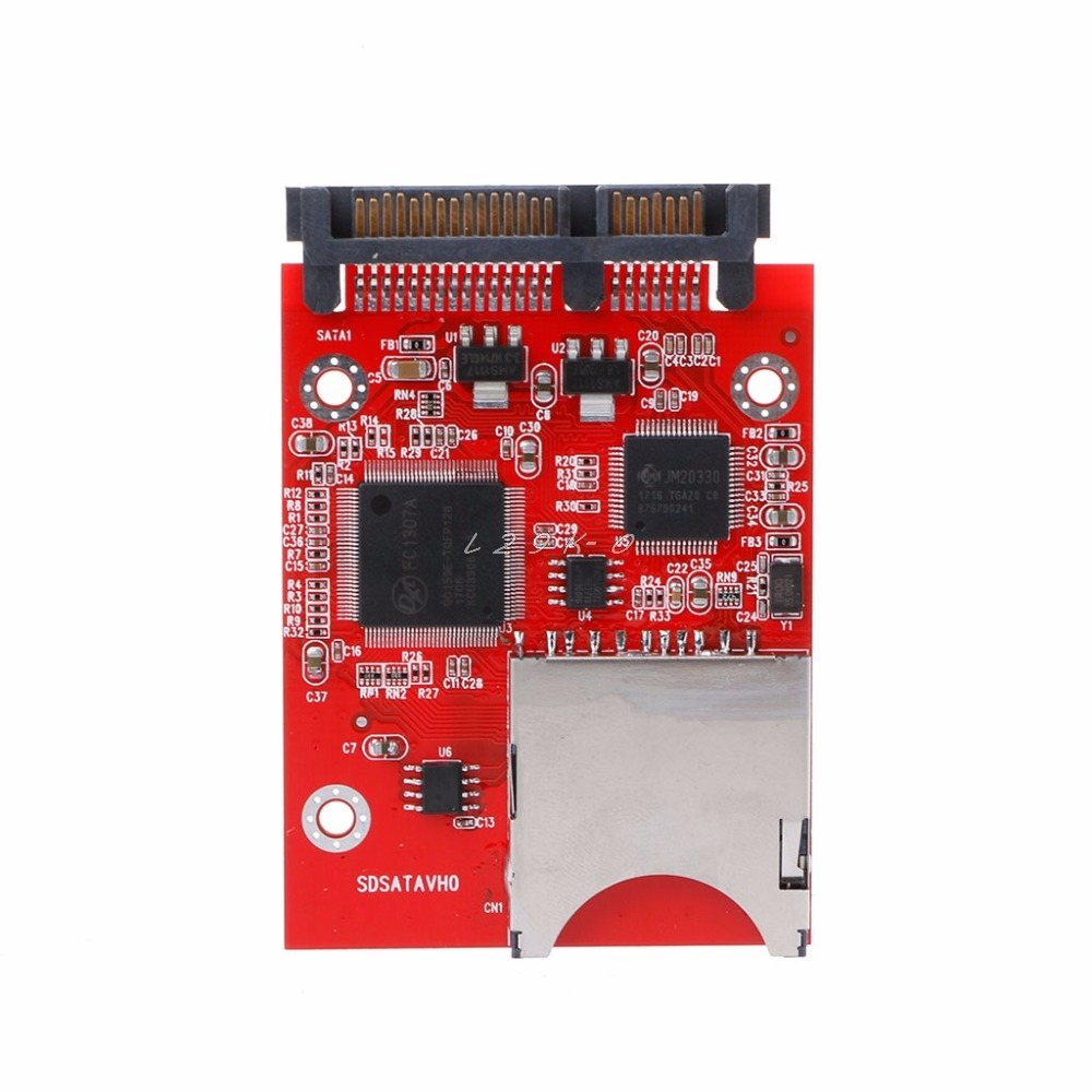 1pc SD SDHC MMC RAID To SATA Adapter Converter Supports 32G Capacity SD Card