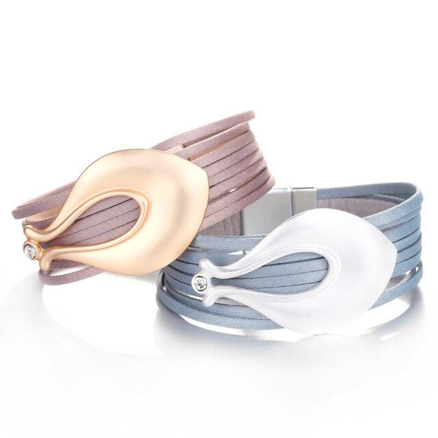 Boho Leather Bracelet variations side by side for Demo