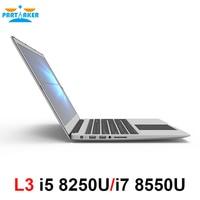 Причастником L3 i5 8250U i7 8550U 4 ядра 15,6 дюймов ноутбук ультратонкий ноутбук с Bluetooth Wi Fi клавиатура подсветкой