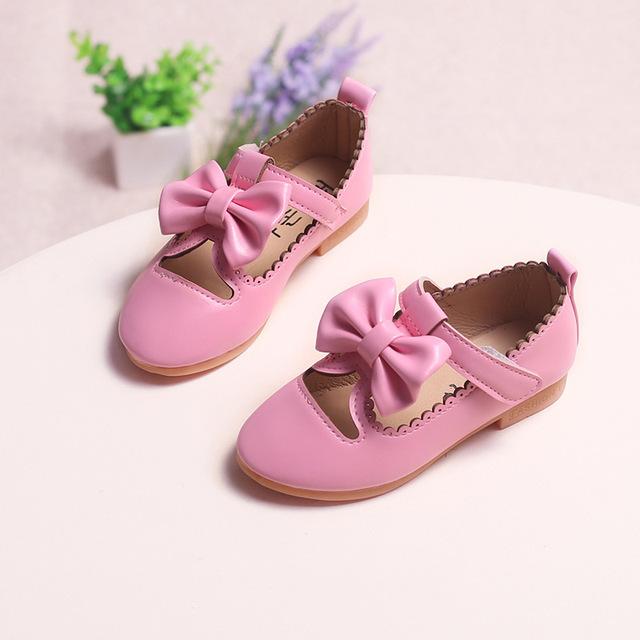 Primavera borboleta crianças shoes for kids fashion party shoes bebê meninas pu leather shoes criança rosa shoes sandálias flat