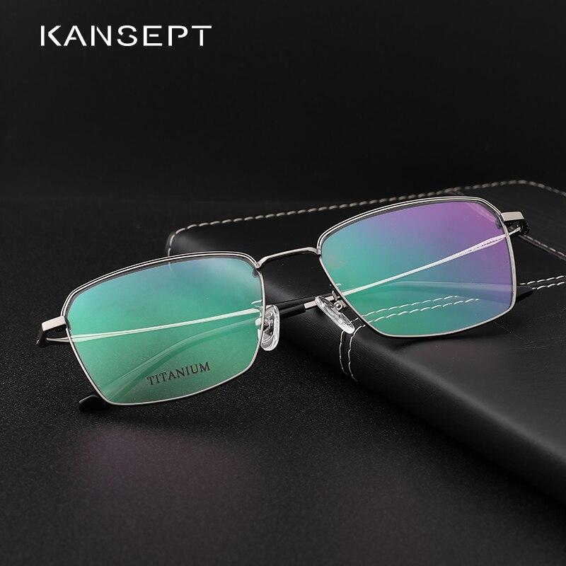 Titanium Men Glasses Frame Square Men Business Style Myopia Prescription Eyeglasses Optical Frame Ultralight#190005
