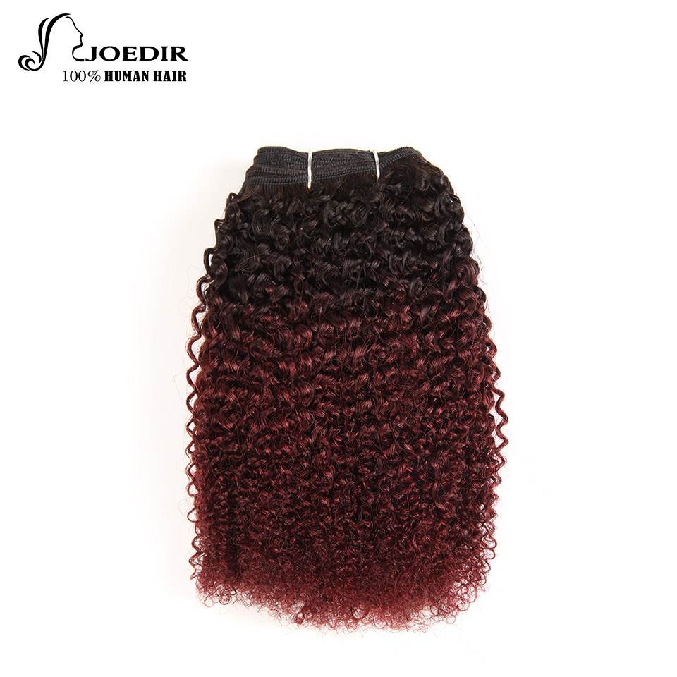 Joedir Brazilian Hair Weave Bundles Ombre Color T1b/99j