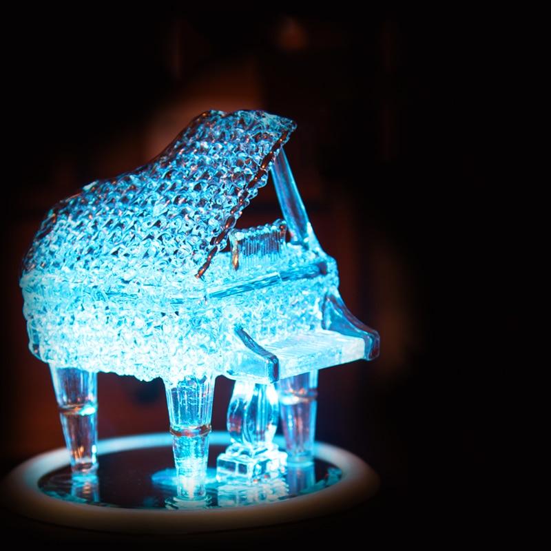 Aqumotic rotation musique et Piano nouveau coloré lumière verre céramique grand 1 pc romantique classique boule de cristal cadeau donnant
