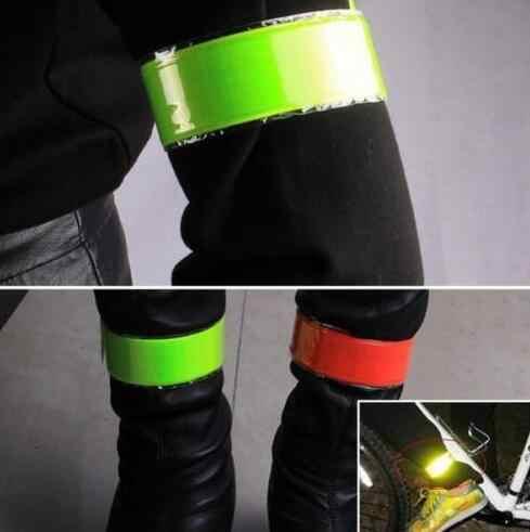 HOT 1 PC do biegania wędkowanie jazda na rowerze odblaskowe paski ostrzegawcze rower bezpieczeństwa rowerowe spodnie spodnie nogi pasek odblaskowa taśma darmowa wysyłka