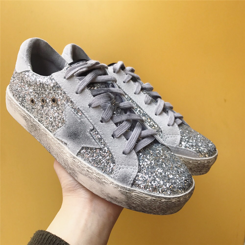 New Spring Fashion Korean Glitter Women Casual Shoes Sneaker Shoes Genuine Cow Leather do old Dirty Flats Cross-tied Lace up 2016 spring summer new old leather lace round japanese casual shoes retro fashion leather shoes