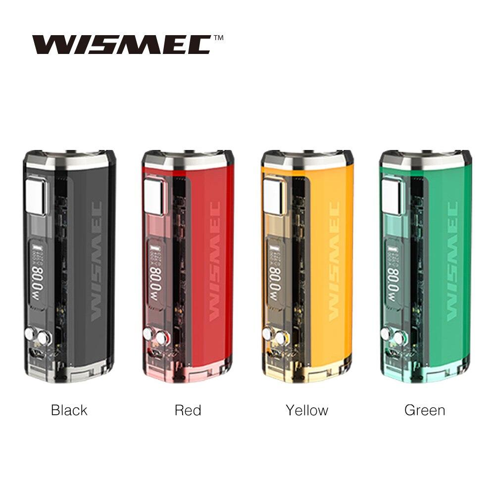Date D'origine WISMEC SINUEUX V80 TC Boîte MOD Alimenté Par Unique 18650 Cellulaire 2A Charge Rapide Pas de Batterie Vaporisateur Mod vs Sinueux P80