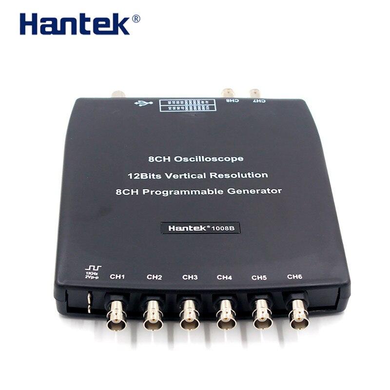 Hantek1008C 8 Channel PC Virtual Automobile Oscilloscope/data Acquisition Card/ 8 Channel Programmable Signal Generator Testing pci 6503 data acquisition card 100