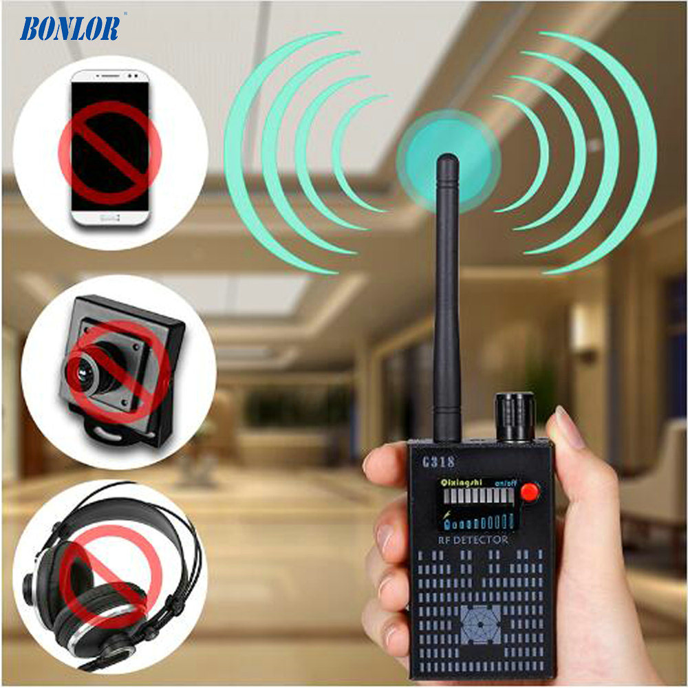 High Sensitivity Wireless Signal Transmitting Radio Detector Covering 2G 3G 4G Mobile & GPS Locator & 1.2/2.4Ghz Wireless Camera 1 pcs full range multi function detectable rf lens detector wireless camera gps spy bug rf signal gsm device finder
