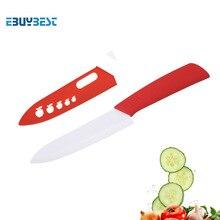 Herramientas de cocina de alta calidad cuchillo de cerámica individual 3 4 5 6 pulgadas hoja blanca mango colorido cocina de cerámica cuchillos