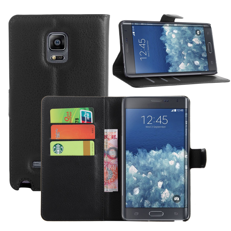 Wallet Flip Leather <font><b>Case</b></font> For Samsung Galaxy Note Edge <font><b>N915</b></font> N9150 N915FY N915A phone Leather back Cover <font><b>case</b></font> with Stand Etui> image