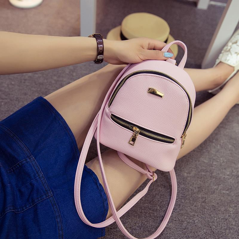 2018Women Leather Backpack children backpack mini women cute back pack backpacks for teenage girls small bagNB021