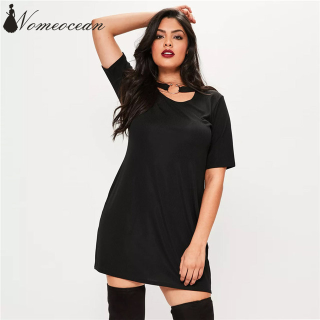 Oversized Sleeves Dress Black Cocktail Dress