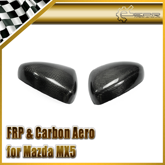 Car-styling For Mazda MX5 ND5RC Miata Roadster Carbon Fiber OEM Side Mirror Cover (Stick on Type) epr car styling for mazda rx7 fc3s carbon fiber triangle glossy fibre interior side accessories racing trim