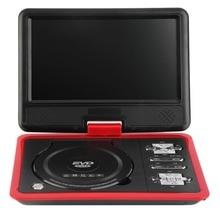Red 9.8 Inch LCD TV Mini Digital Mobile TV Portable Rotating Screen DVD EVD Player TV VCD CD MP3/4 SD USB Game TV US / EU Plug