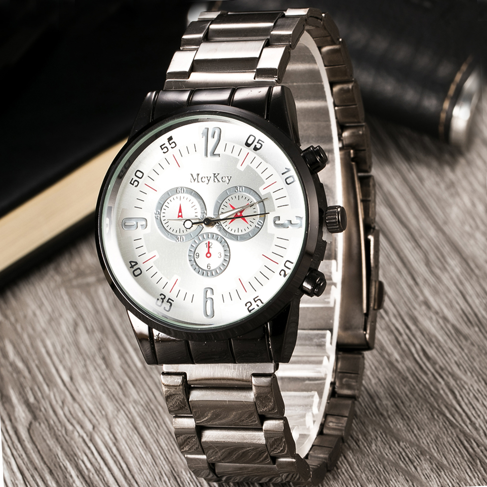 2020 New Men's Sports Watches Military Full Steel Quartz Luxury Top Famous Brand Men Watch Business Casual Watches Reloj Hombre