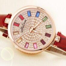 Melissa Lady Women's Watch Japan Quartz Hours Fashion Clock Bracelet Leather Crystal Luxury Rhinestones Girl Birthday Gift