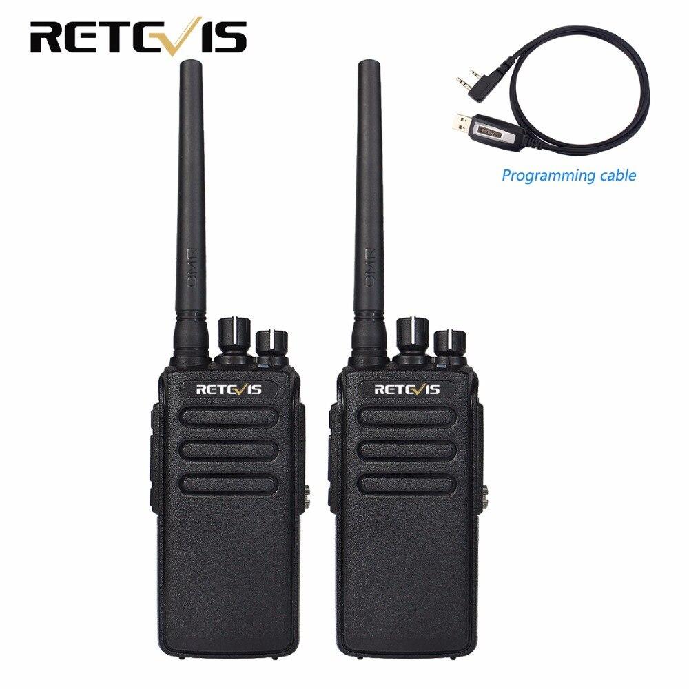 bilder für 2 stücke 10 Watt DMR Digital Radio IP67 Wasserdicht Walkie-talkie 10Km Retevis RT81 UHF 400-470 MHz VOX Verschlüsselt Zweiwegradio Lange palette
