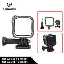 SnowHu for Gopro Accessories Camera Low Profile Frame Housing Cover Support Mount Holder for GoPro Hero 5 S / 4 Session GP259