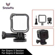 SnowHu voor Gopro Accessoires Camera Low Profile Frame Behuizing Cover Ondersteuning Mount Houder voor GoPro Hero 5 s/4 sessie GP259