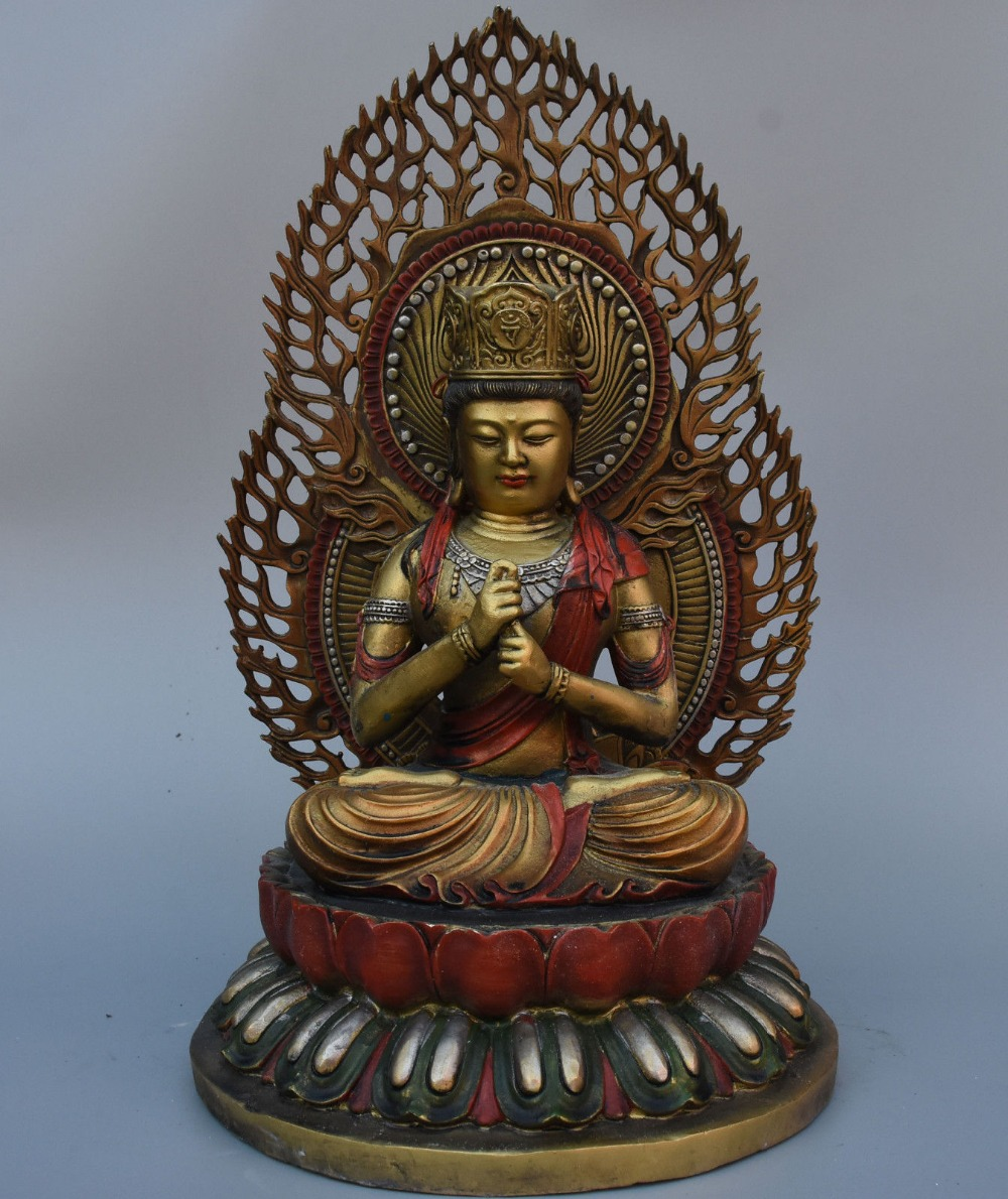 "Рождество 17 ""Тибет Буддизм храм Бронзовый живопись Шакьямуни Mahavairocana статуя Будды Хэллоуин"