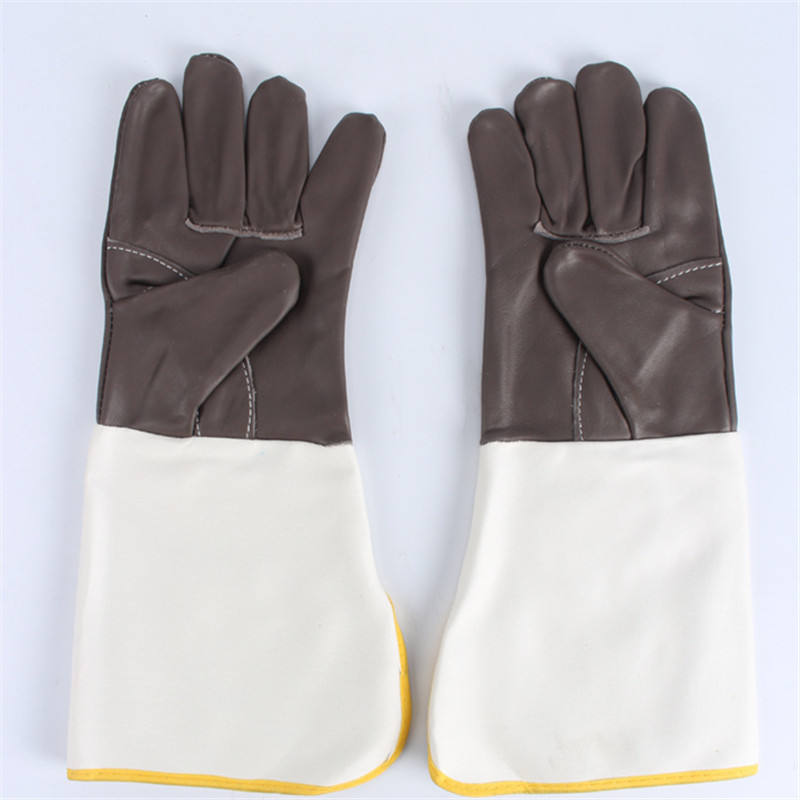 Miękka Skóra Bydlęca Plus Rękawice SPAWACZY spawanie Pracy Dla ochrony dłoni
