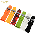 Concave interface Rubber Watchband Sports watch strap 28mm Mens waterproof Watch band camouflage wristwatches band for ap