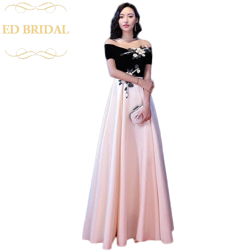 Long Red Carpet Off the Shoulder Celebrity Evening Dress 2018 ...