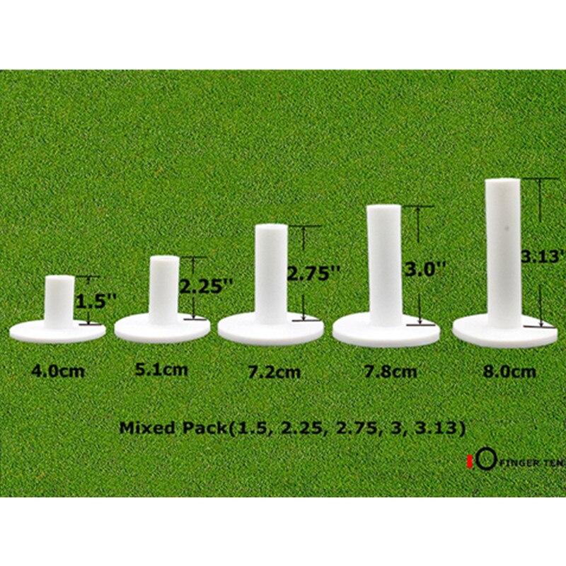 Dedo Dez Borracha Golf Tee 5 Pacote Titulares de Driving Range Tees Diferentes Tamanho 1.5 ''2.25'' 2.75 ''3.0 ''3.13'' polegada Tee Borracha