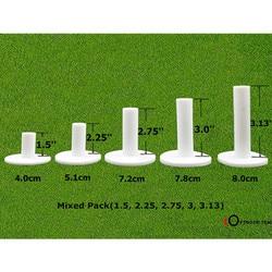 Dedo Ten Golf goma Tee 5 paquete de diferentes tamaños Driving Range Tees soportes 1,5 ''2,25'' 2,75 ''3,0'' camiseta de goma de 3,13 pulgadas