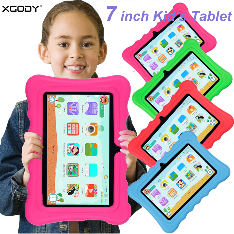 Xgody 7 inch android kids tablet PC children android 8.1 Quad Core 1G+8GB tablet 0-12 CustomizedXgody 7 inch android kids tablet PC children android 8.1 Quad Core 1G+8GB tablet 0-12 Customized