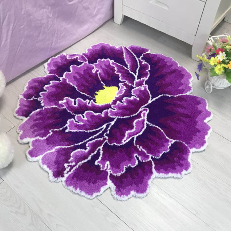 Китайский стиль красный пион цветок ковровая плотная гостиной и спальни ковер розовый цветок дверь коврики Свадебные гостиная Холл ковры - Цвет: 2