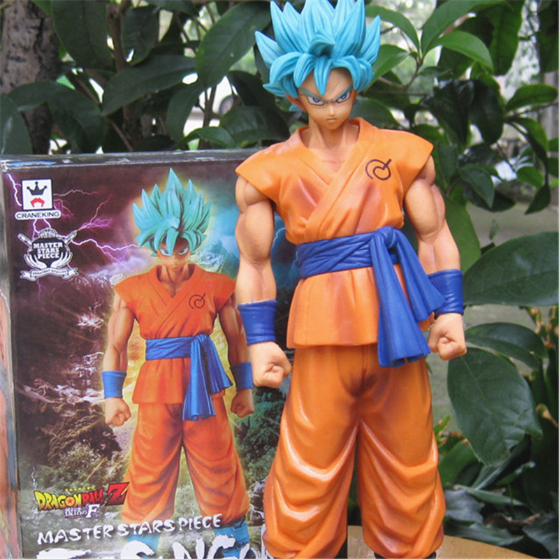 1pc/lot Dragon Ball Z Son Goku Figure Super Saiyan God Blue Hair Goku 25CM Dragon Ball Collectible Model Toy Doll Figuras dragon ball z action figure god goku super saiyan led lighting display toy anime dragon ball son goku collectible model diy155