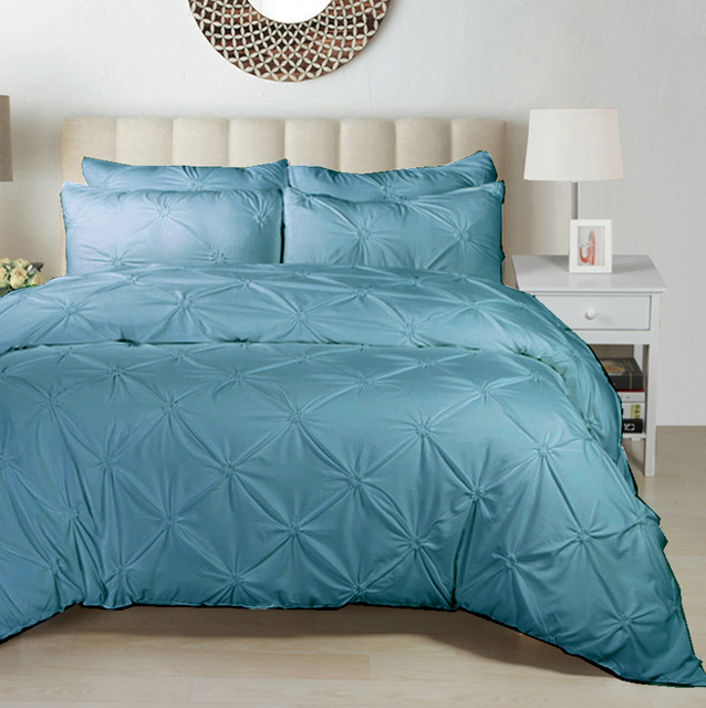 Hot Selling Home Textile Pure Color Simple Bedding Sets Quality So
