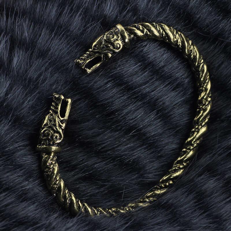 Bracelet de loup Viking de haute qualité Bracelets païens Bracelet Bracelet cadeau ami manchette nordique Vikings