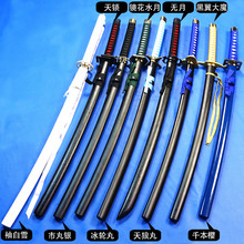 Wooden sword bleach Rukia Kurosaki IchigoKu Japanese katana Cosplay wooden Sword knife blade weapon Props High quality