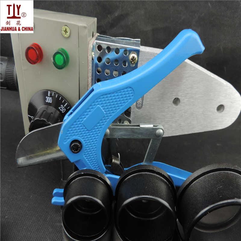 Herramientas de fontanero AC220/110V 600W, máquina de soldadura de tubos de DN20-63mm para soldadura de pvc, máquinas de soldadura de tubos ppr con cortador de tubos