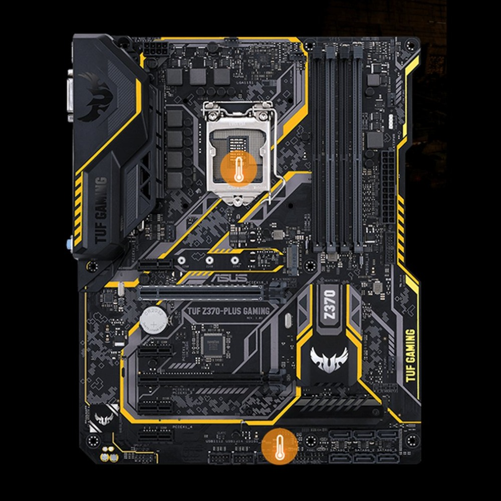 TUF Z370-PLUS GAMING Game Board Motherboard Supports <font><b>DDR4</b></font> <font><b>4000MHz</b></font> 32Gbps M.2 Fast Speed ESD DTS TUF Motherboard image
