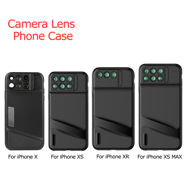 the latest 82d81 b23b6 US $24.74 25% OFF|Aliexpress.com : Buy For iPhone XS Max Camera Lens Lens  Phone Case Fisheye Wide Angle Macro Telescope Lens Phone Cover for iPhone X  ...