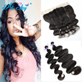 Peerless Virgin Hair 4 Bundles Malaysian Curly Hair with Frontal Amazing Hair Company Malaysian Frontal Closure with Bundles Bob