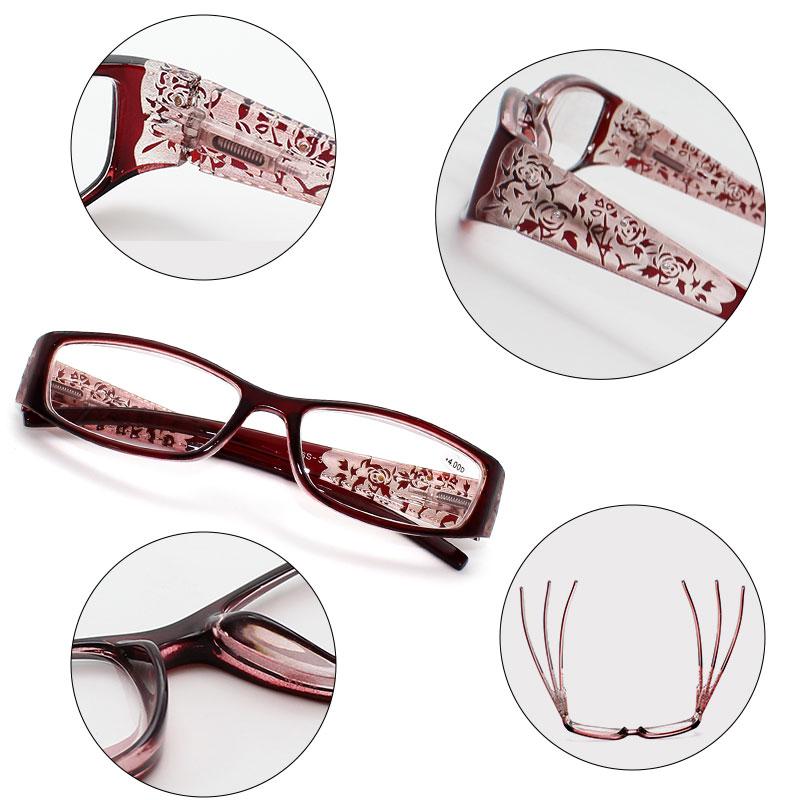 Bloemen Leesbril Strass Dames Gafas de Lectura Brilmonturen Luxe Mode - Kledingaccessoires - Foto 6