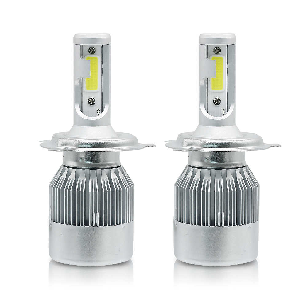 ANBLUB Car Headlight H7 H4 LED 72W 7600LM Super Bright H1 H3 H11 9005 9006 9007 COB LED Auto Headlamp 6000K 12V 24V