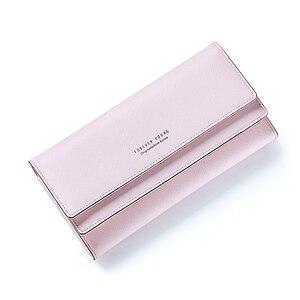 Image 5 - MONNET CAUTHY portefeuille pour femme concis loisirs doux mode Style coréen dame bonbon couleur vert rose noir gris longs portefeuilles