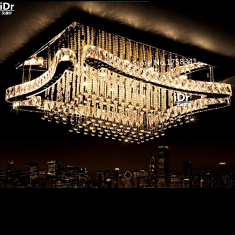 Moderne High Grade Kristall Lampe Rechteckige Led Minimalistischen Wohnzimmer Kreative Schlafzimmer Restaurant Deckenleuchten