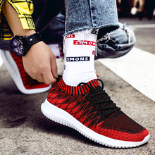 2019 Newest Sock Men Sneakers Breathable Mesh Running Shoes for Men Slip-On Man Sport Shoes Outdoor Male Walking Jogging Shoes все цены