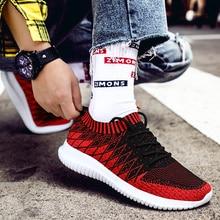 цены на 2019 Newest Sock Men Sneakers Breathable Mesh Running Shoes for Men Slip-On Man Sport Shoes Outdoor Male Walking Jogging Shoes  в интернет-магазинах