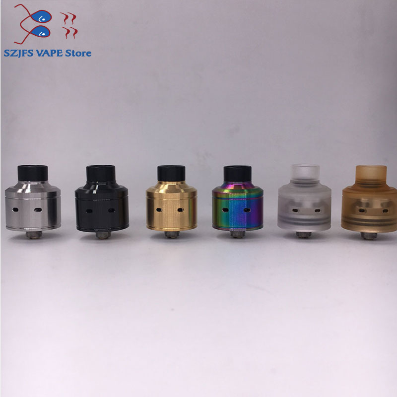 Hadaly Citadel RDA Atomizers With Wide Bore Drip Tip22mm Diameter Double-sided Rebulidable Drip Tank For 510 Thread Mod Vaporize
