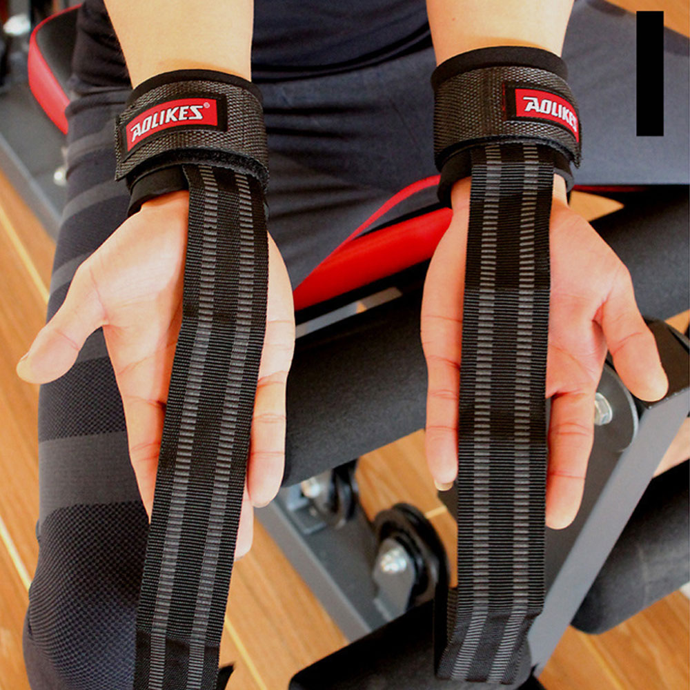 ALBREDA Gym Sport Wristband Fitness Dumbbells Training Wrist Support Straps Wraps With Hand Power Bands Horizontal Bar
