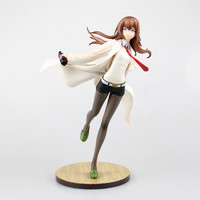 Anime Steins Gate Makise Kurisu White Coat Ver. 1/7 Scale PVC Figure Collectible Model Toy 23cm