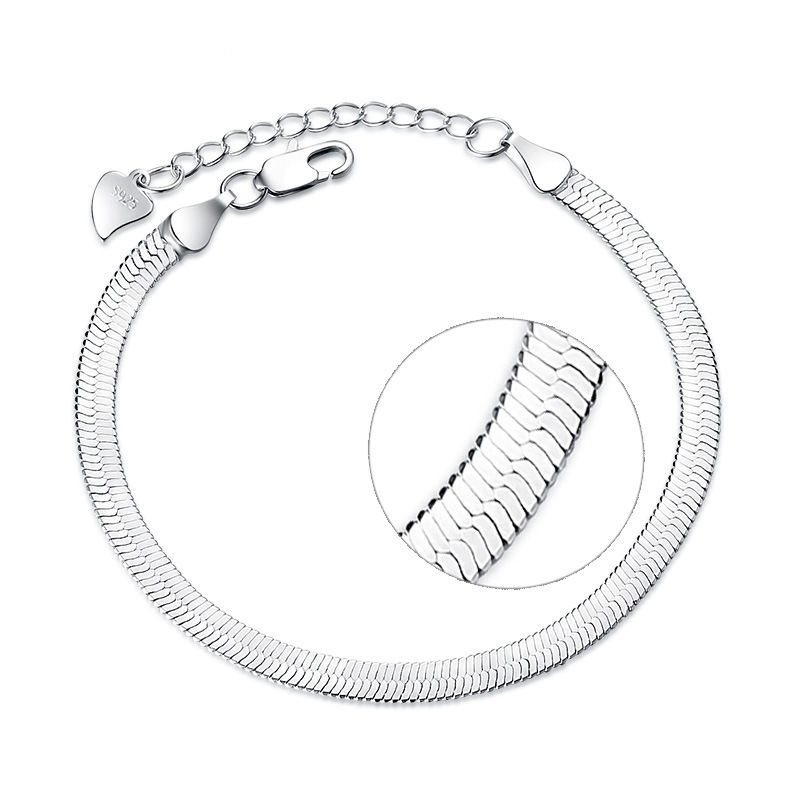 Bracelet Bangles Flat-Snake-Blade Silver for Woman Pulseira VBS4046 Hot-Sale Hot-Sale